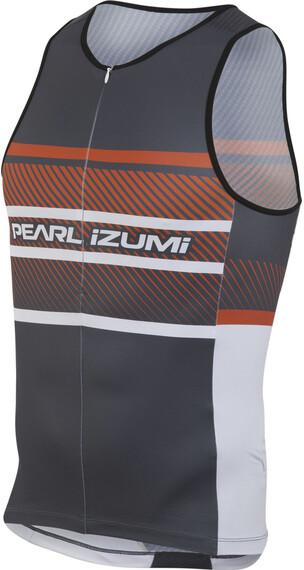 PEARL iZUMi ELITE In-R-Cool LTD Tri Singlet Men stripes red orange